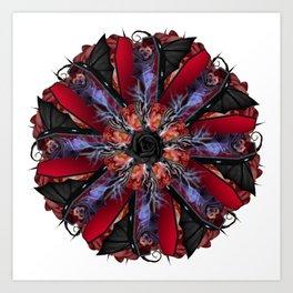 dead bat mandala Art Print