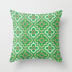 Medallions - Emerald Throw Pillow