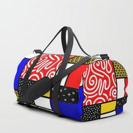 Mondrian in a Memphis Style Duffle Bag
