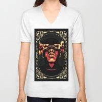 jay z V-neck T-shirts featuring Jay-Z by Rafael Bosco