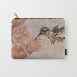 Purple Hummingbird Carry-All Pouch