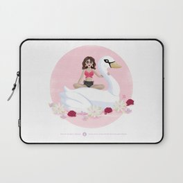 Summer Pool Party - White Swan Float E Laptop Sleeve
