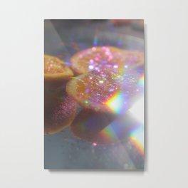 Orange in glitter Metal Print