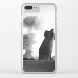 Blimp crashes due to nuclear test in Nevada, 1957 Clear iPhone Case