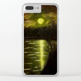 Pond at Night Clear iPhone Case