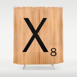 Scrabble Letter Tile - X Shower Curtain