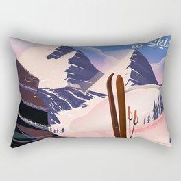 Sölden Austria vintage ski poster Rectangular Pillow