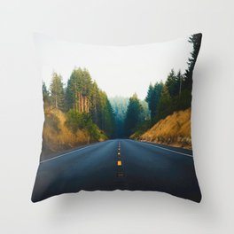 The Road Again (Color) Throw Pillow
