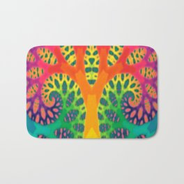 A Tree Dreaming In Color Bath Mat