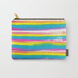 Pastel Rainbow Stripes Carry-All Pouch
