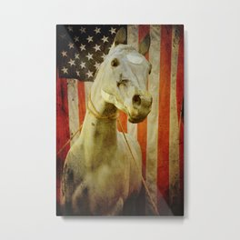 Portrait of an American Horse Metal Print