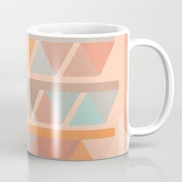 Muted Earth Tones Abstract Geometric Pattern Coffee Mug