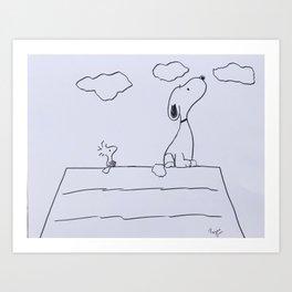 Snoopy Art Print