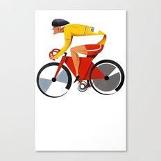 Solo Track Cyclist Canvas Print