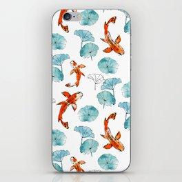 Waterlily koi iPhone Skin
