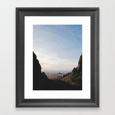 Palm Sunset Canyon Framed Art Print