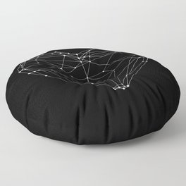 Polygon Love Heart modern black and white minimalist home room wall decor canvas Floor Pillow
