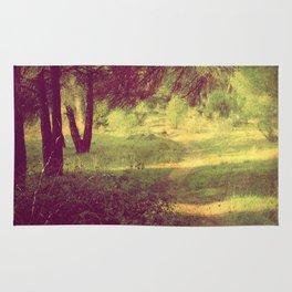 vintage summer forest Rug