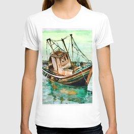 Boat on Seashore T-shirt
