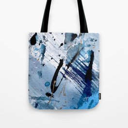 Breathe [2]: colorful abstract in black, blue, purple, gold and white Tote Bag