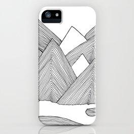 Mountains IIII iPhone Case