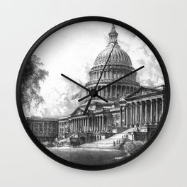 United States Capitol Building Wall Clock