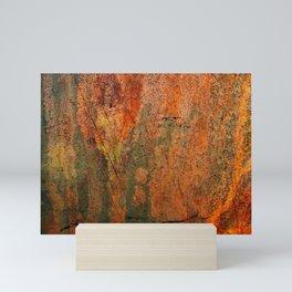 Heavy Decay Rustic Brown Peeling Paint Metal Mini Art Print