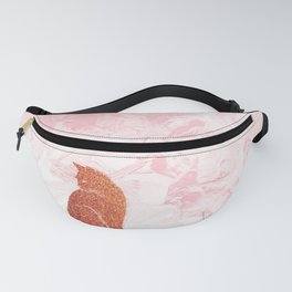 Rose Gold Cat Fanny Pack
