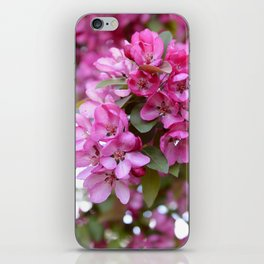 Deep pink blossom iPhone Skin