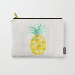 Original teal orange green watercolor pineapple Carry-All Pouch