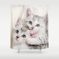 kitten Shower Curtains featuring Kitten by Sushibird