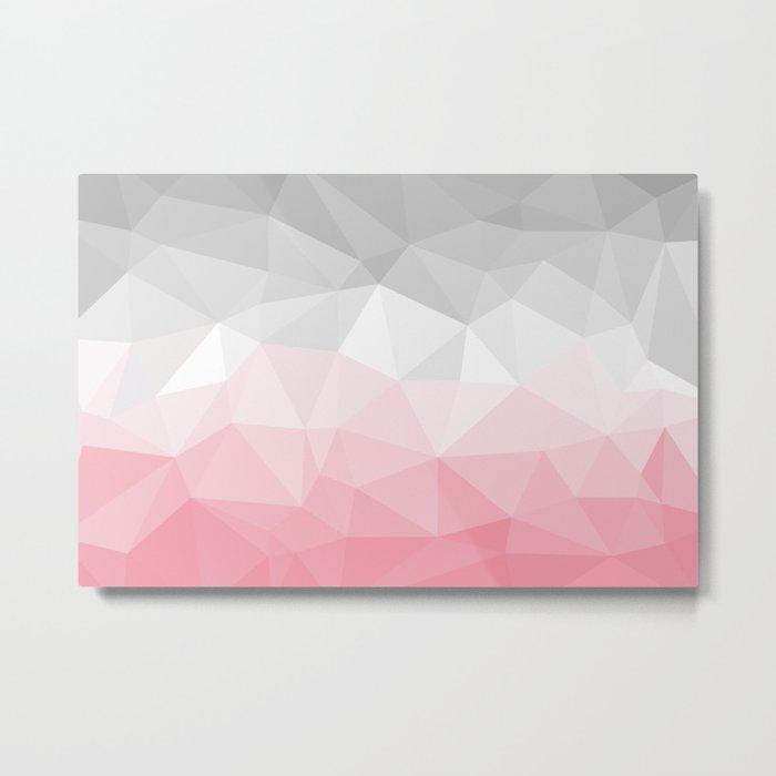 pink and grey polygon 2018 Metal Print