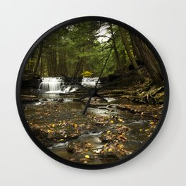 Peaceful Waterfalls Landscape Wall Clock