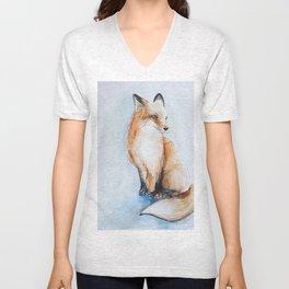 Fox illustration Unisex V-Neck