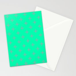 Ornamental Pattern with Mint and Grey Colourway Stationery Cards
