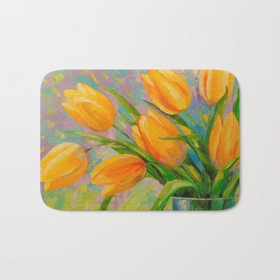 A bouquet of tulips Bath Mat