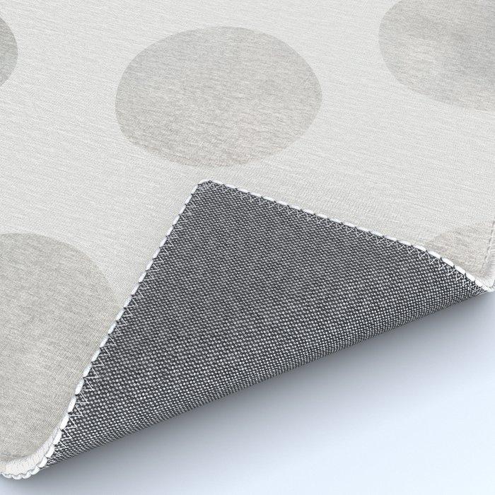 Silver Polka Dots Rug