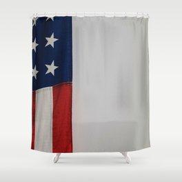 Side Flag (Color) Shower Curtain