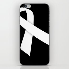 White Ribbon iPhone Skin