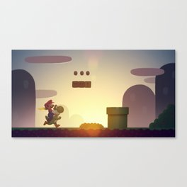 Super Mario World Canvas Print
