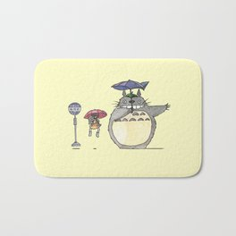 Toto ro Satsuki and Mei Bus stop scene Bath Mat