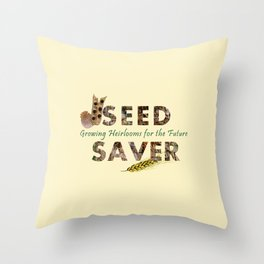 Saving Seeds for the Future Throw Pillow