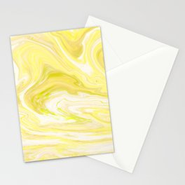 Yellow Glowing Marble Stationery Cards