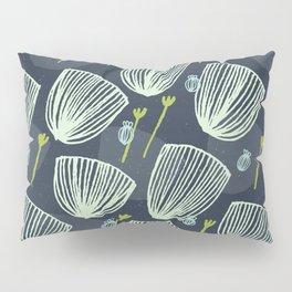 Tulip Garden M+M Navy Black by Friztin Pillow Sham