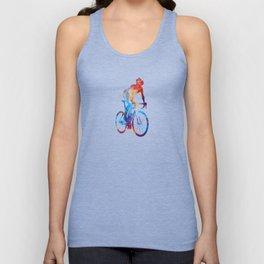 Woman triathlon cycling 06 Unisex Tank Top