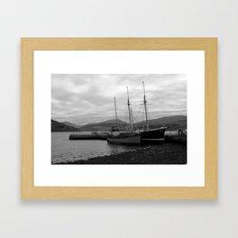 Inveraray Boats Framed Art Print