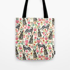 Australian cattle dog floral dog breed cream pet pattern custom gifts for dog lovers Tote Bag