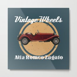 Vintage Wheels: Alfa Romeo Zagato Metal Print