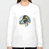 penguins Long Sleeve T-shirts featuring Penguins by James Peart