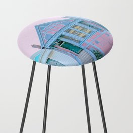 San Francisco Painted Lady Victorian House Counter Stool